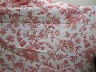 1+ Yds Brunschwig Fils Red Ivory Shell Birds French Country Toile Cotton Fabric