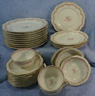 Haviland H & Co Burley Co. Chicago Lot of 28 Pcs-Plates, Bowls, Cups & Saucers