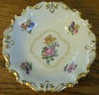 Vtg Floral Gold Tone Trim Shallow Bowl Dish Kenneberry Germany Import Jimenau