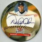 DEREK JETER 2003 FLEER HARDBALL SIGNATURE AUTOGRAPH ON ACTUAL LEATHER BALL NICE