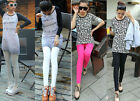 SPECIAL SALE BIN $7.99 SWEET WOMENS SLIM COTTON CANDY COLOR LEGGINGSS 4 COLOR