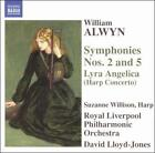 WILLIAM ALWYN: SYMPHONIES NOS. 2 & 5; LYRA ANGELICA (HARP CONCERTO) NEW CD