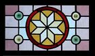 Victorian Star Rondels Antique English Stained Glass Window