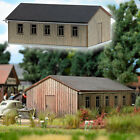 HO 1:87 Busch 1544 Wood BARRACKS / WAREHOUSE / Building KIT + 5.45 US Shipping