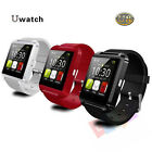 U8 Bluetooth Smart Wrist Watch Phone Mate For Android&IOS Iphone Samsung Black