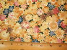 Geisha Garden Mums Maples end of bolt fabric BY THE YARD Read Full Listing