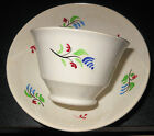c1820 Creamware English Sprig Handless Small Cup and Saucer