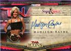 TNA Madison Rayne 2010 Icons Silver Authentic Autograph Card SN 30 of 50