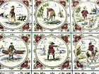 Delft Hand Painted Tile Daily Life 9 Scenes 6