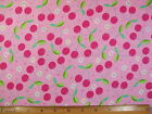 Pink Cherries Print II end of bolt fabric BY THE YARD Read Full Listing