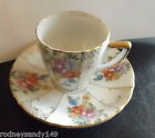 Beautiful UCABCO China Made In Floral  Japan cup & Saucer