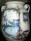HP POTTERY VASE ORIENTAL STYLE ENAMELED SIGNED 10