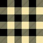 Flannel Mad about Plaids Cream and Black Plaid Cotton Fabric Fat Quarter