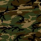 Army Camouflage Green Tan Olive Camo Pattern Cotton Fabric by the Yard