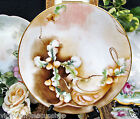 LIMOGES FRANCE HAND PAINTED PLATE JP LIMOGES PERFECT DESIGN