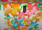 Cynthia Rowley white pink teal floral print cotton Beach Towel Extra Large 40x70