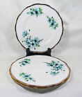 3 Royal Albert China Marguerite Salad Plates Blue Daisy Hampton Shape