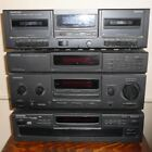 KENWOOD COMPONENTS DOUBLE CASSETTE DECK STEREO RECEIVER MULTIPLE COMPACT DISC CD