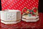 VINTAGE FRITZ & FLOYD SNOWY WOODS CANDY TRINKEt BOX WITH LID CHRISTMAS