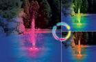 ABOVE or IN GROUND SWIMMING POOL PARTY CHANGING LIGHT WATER FOUNTAIN w HOSE
