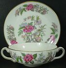 WEDGWOOD china CATHAY W4053 pattern CREAM SOUP BOWL with UNDERPLATE Saucer