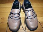 DANSKO SIZE 38 TAN BROWN LACED LEATHER CLOGS LOAFERS MARY JANES CUTE NICE