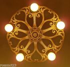 Vintage Lighting dramatic 1930s Deco chandelier by Riddle
