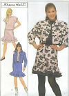 Vintage 80s Misses Top Skirt Jean Style Jacket Sewing Pattern Funnel Neck 9251