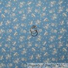 BonEful Fabric FQ Cotton Quilt Blue Country Sky MOON STAR Baby Cow Nursery Rhyme