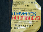 1980s Mens Maverick Authentic Western Cut Jeans Size 29 x 33 Made in USA