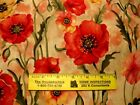 Susan Winget  POPPIES  FLORAL   Cotton Fabric  By Yard
