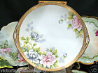 NIPPON BEADED GOLD GILT HAND PAINTED LARGE PLATE CHARGER PAINTED FLOWERS