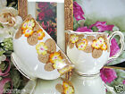ROYAL ALBERT CREAMER AND SUGAR LARGE PRIMROSE PATTERN SET PAINTED