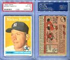 1958 TOPPS #150 MICKEY MANTLE PSA 4 (1735)