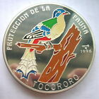 1996 Tocororo Bird 1/2 Kilo Colour Silver Coin,Proof