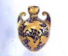19th Century Royal Crown Derby Gourd Vase - Heavy Gold Decoration on Cobalt Blue
