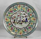 Vintage Ardalt Lenwile Gilded Roosters Porcelain Plate Hand Painted  #6722/C