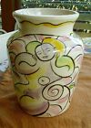 Modern Tammy Camarot Matisse Style Painted Nude Women Flower Pottery Vase Signed