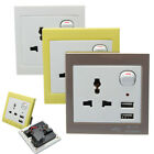 Dual 2USB Port Electric Wall Charger Socket Adapter Power Outlet Panel Faceplate