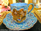 MADE IN JAPAN TEA CUP AND SAUCER DEMI ARDALT MORIAGE PAINTED BIRD TEACUP BLUE