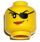 LEGO PIRATE GIRL MINIFIGURE HEAD Dual Sided with Patch 70411