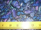 Elizabeth's Studios Butterfly Garden Fabric Colorful Purples for Quilts Totes