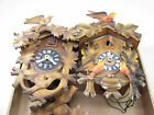 LOT OF 2 VINTAGE GERMAN CUCKOO CLOCKS PARTS REPAIR