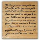 French Script Lords Prayer mounted rubber stamp Lords bible verse 22