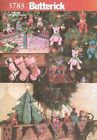 Pattern Butterick Sewing Christmas Tree Skirt Mantal Cover Bears Table Decor OOP