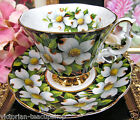 ROYAL ALBERT CHINTZ PROVENICAL SERIES TEA CUP AND SAUCER DOGWOOD PATTERN TEACUP