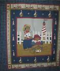DAISY KINGDOM SAILOR BEAR NURSERY QUILT FABRIC PANEL