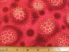 Sea Anemone Red end of bolt cotton fabric HALF YARD Read Full Listing Info