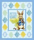 Peter Rabbit Rabbits and Radishes Large Quilt Fabric Panel