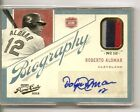 2012 Playoff Prime Cuts Roberto Alomar Biography Prime Jersey Auto Card 25